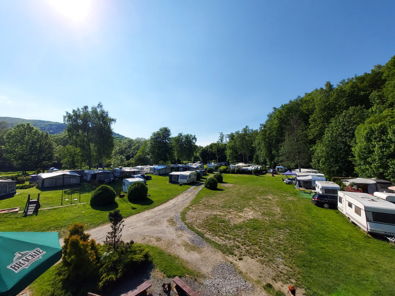 kemping camping ustroń pole namiotowe